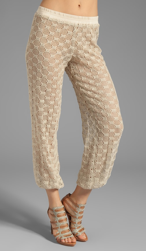 Hexagon Bonded Lace Lila Pant