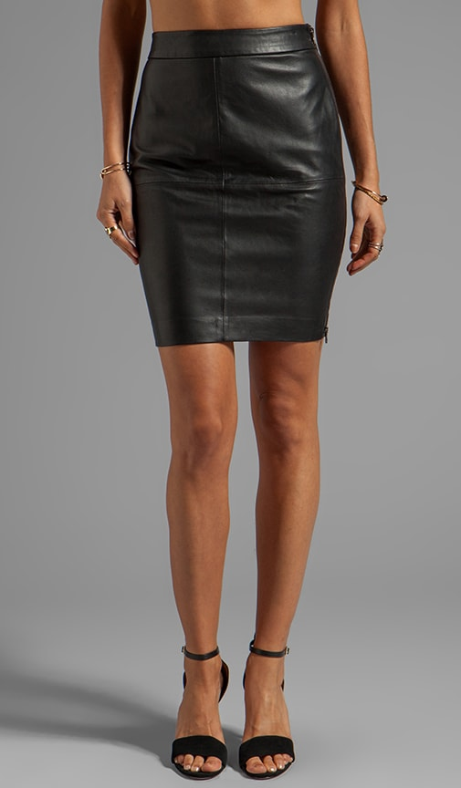 Soft Lamb Leather Sydney Skirt