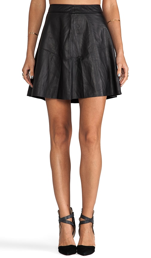 Soft Lamb Leather Lannie Skirt