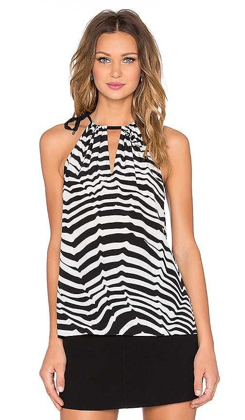 Trina Turk Satou Tank in Black & Whitewash