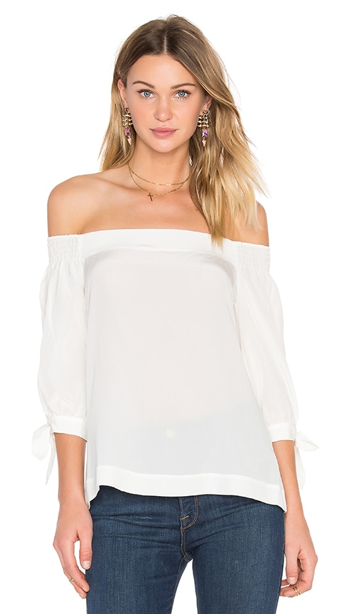 Trina Turk Kandis Off Shoulder Top in White