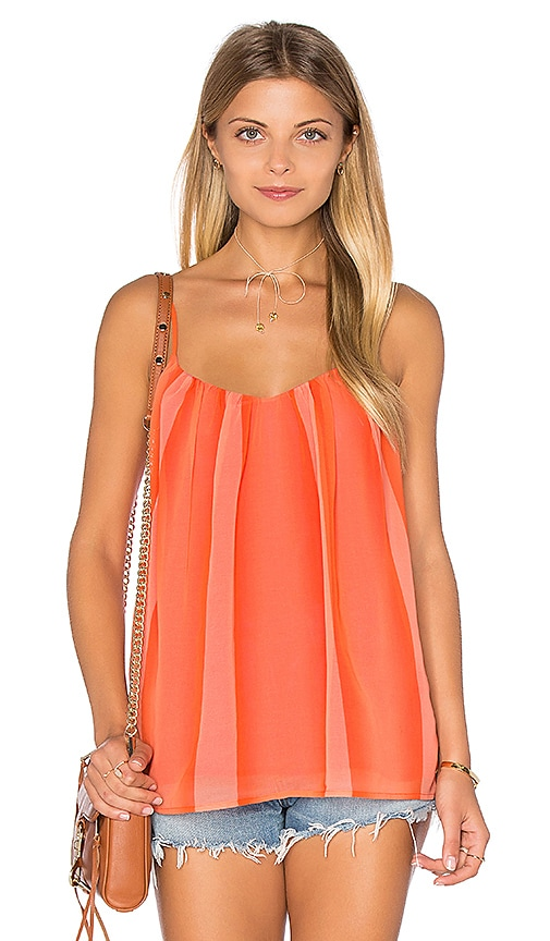 Trina Turk Gamela Tank in Orange