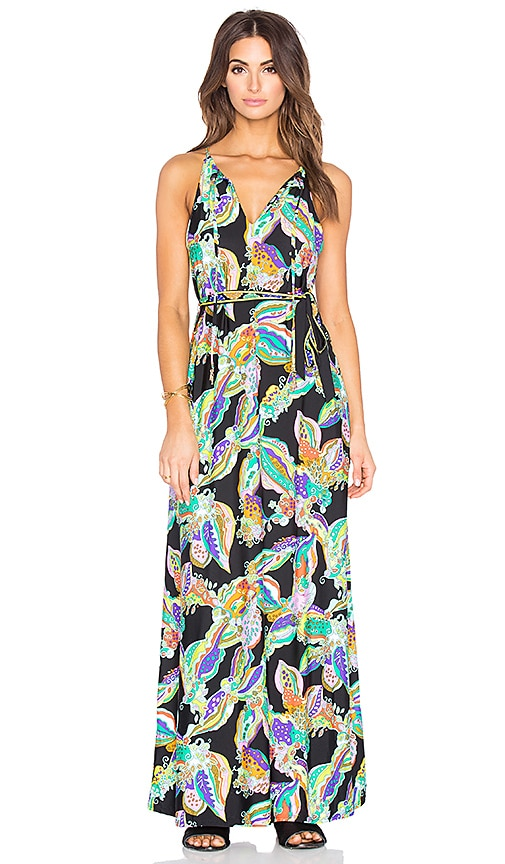 Trina Turk Sea Garden Long Dress in Black