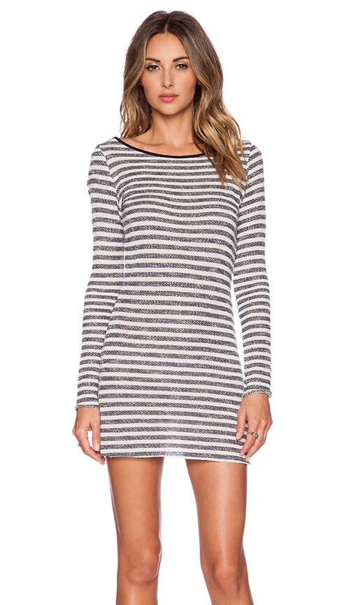Tt Beach Stace Dress in Grey & Navy