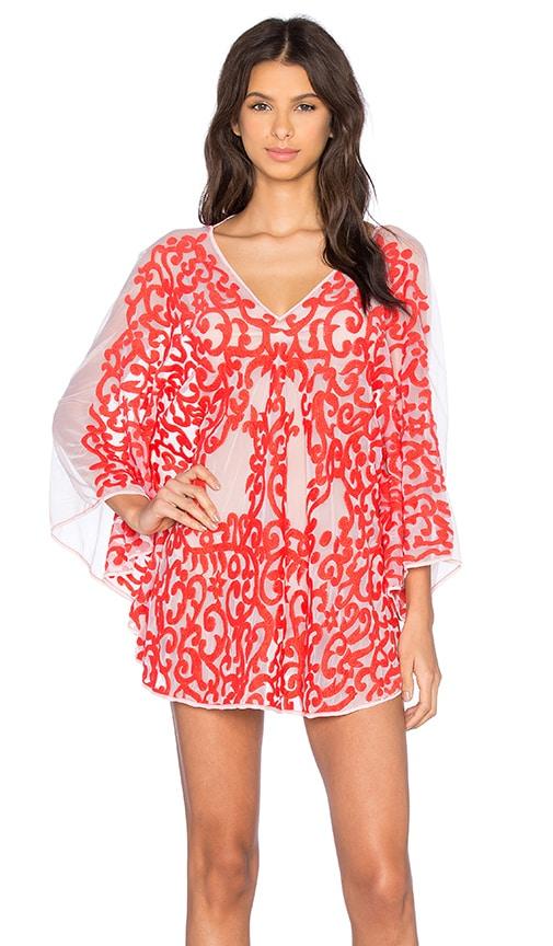 Tt Beach Arden Mesh Dress in Red