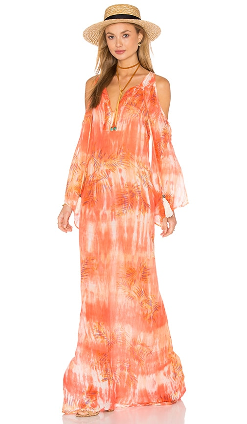 Tt Beach Jil Maxi Dress in Coral