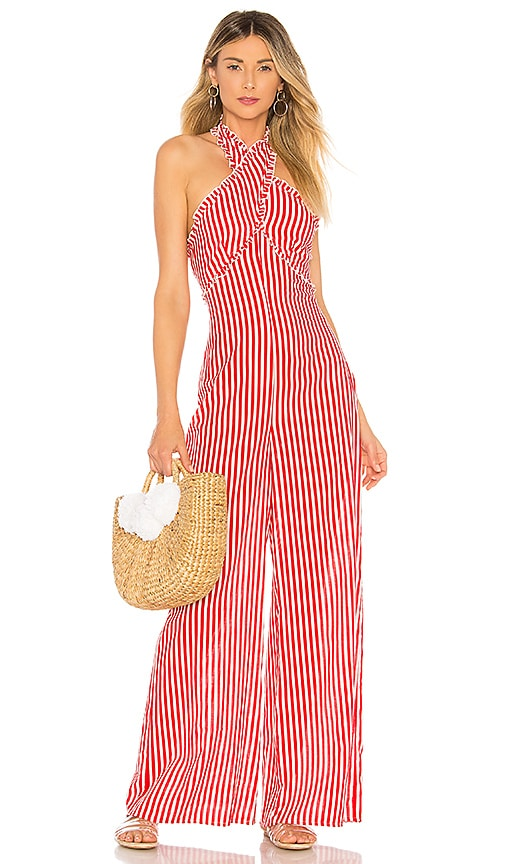 Tularosa Jackie Jumpsuit in Red