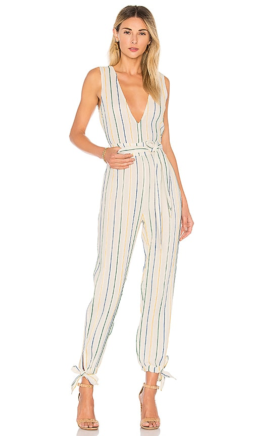 Tularosa Reese Jumpsuit in White