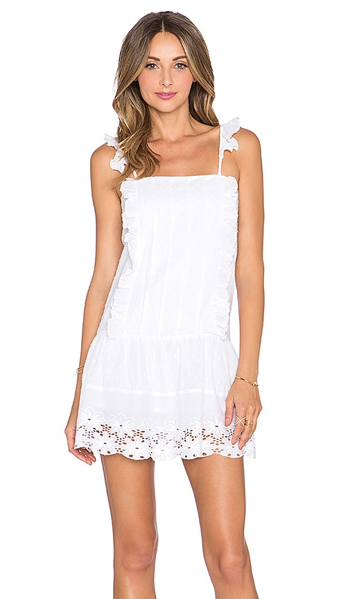 Tularosa Annabel Ruffle Dress in White