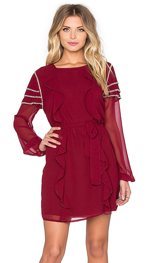 Tularosa Bowie Dress in Wine