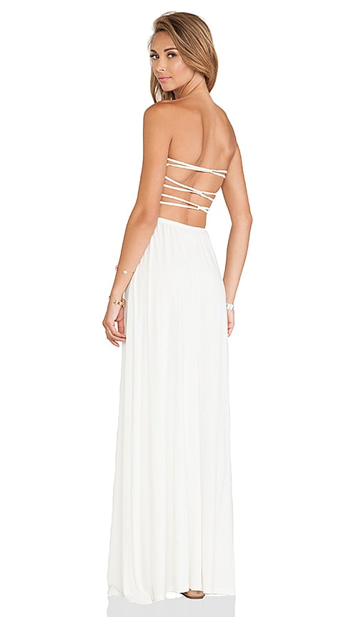 aa4ffb437b Tularosa Demi Strapless Maxi Dress in Ivory