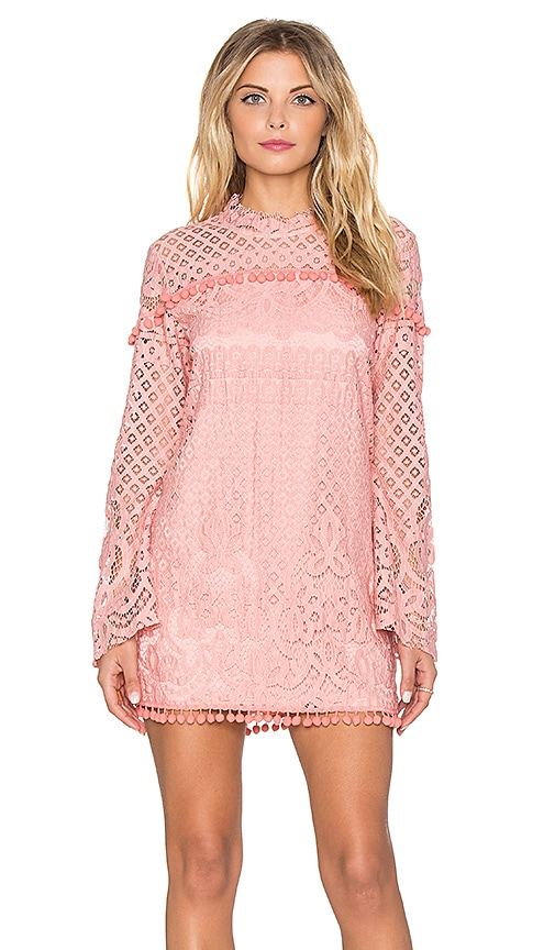 Tularosa x REVOLVE Matilda Lace Dress in Blush