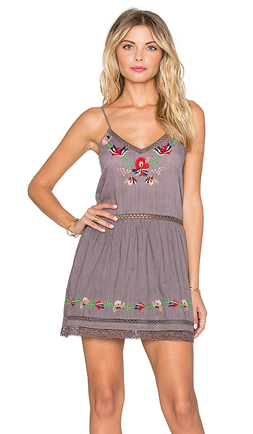 Tularosa Bloom Slip Dress in Gray