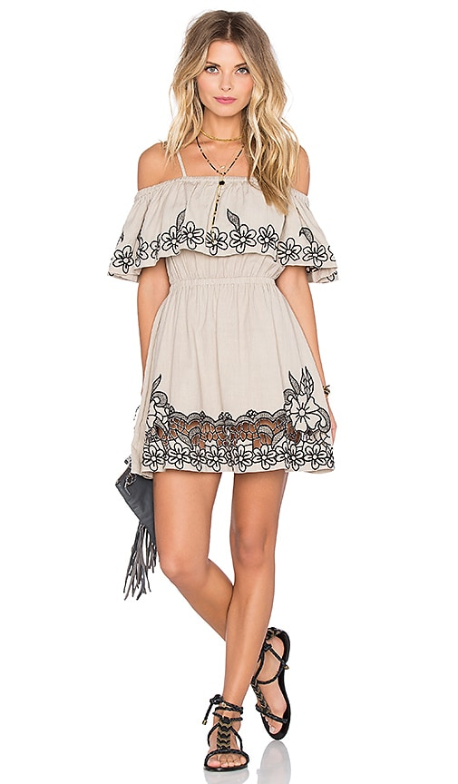 Tularosa Cambridge Dress in Putty & Onyx