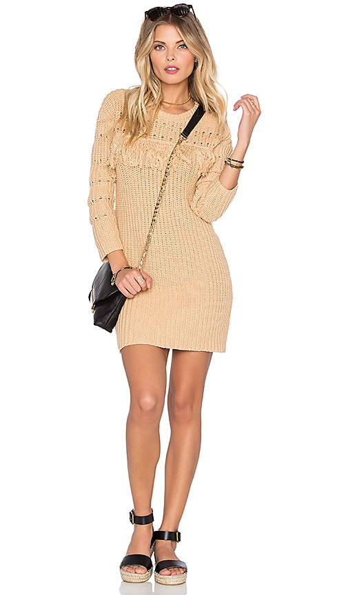 Tularosa Posey Knit Dress in Beige