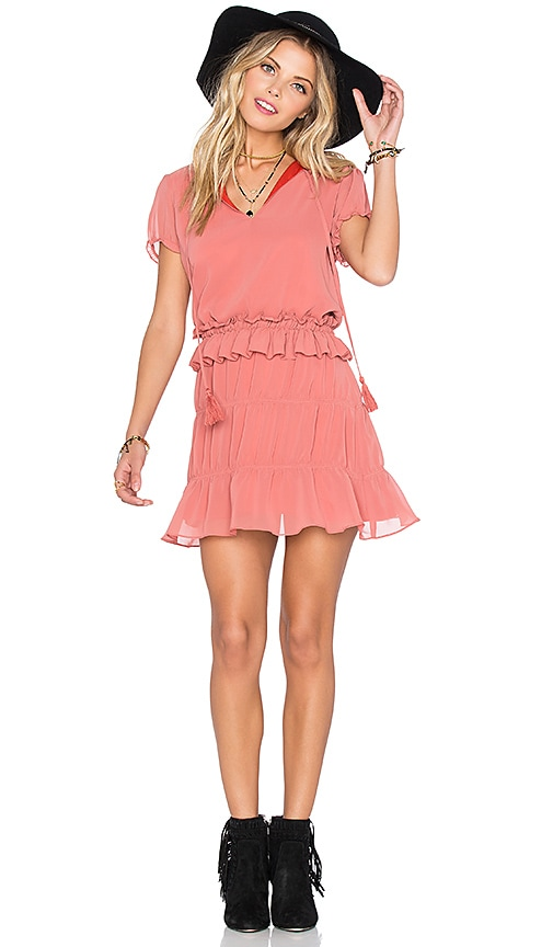 Tularosa Colleen Dress in Peach