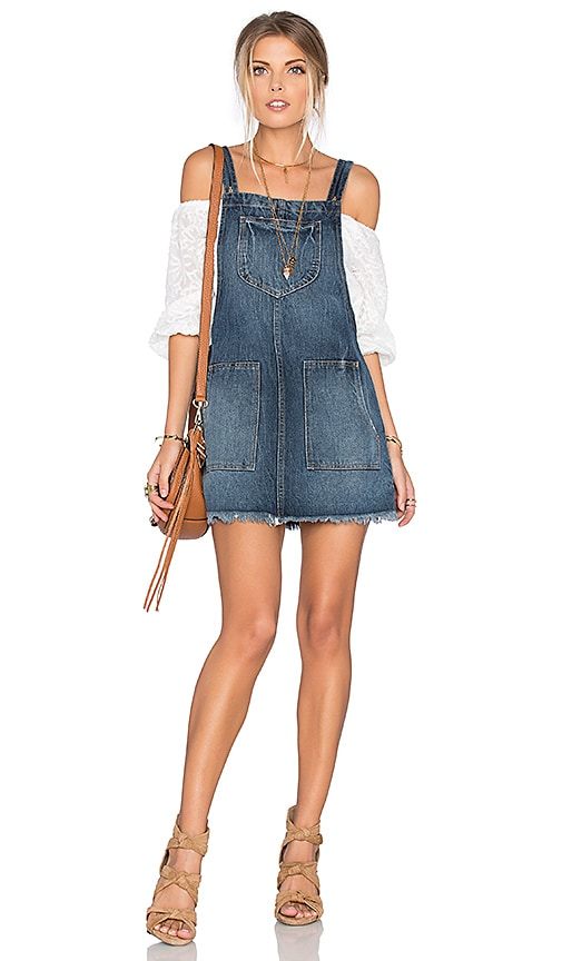 Sophia Overall Dress in Blue. - size M (also in S,XL,XS) Tularosa