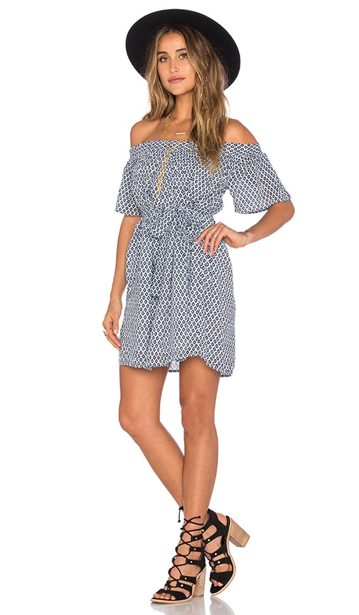 Tularosa x REVOLVE Hope Dress in Blue Ditsy