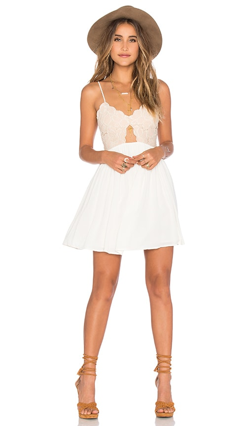 Tularosa Bryce Mini Dress in White
