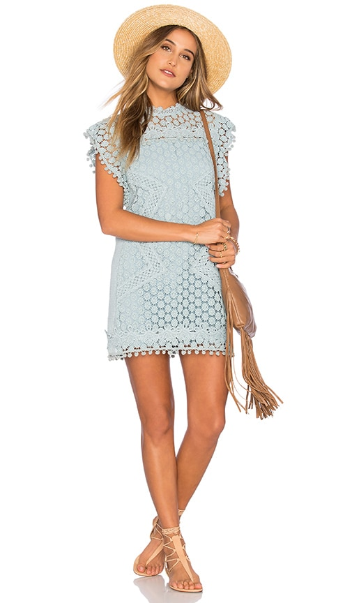 Tularosa Clayton Lace Tunic in Blue