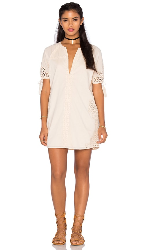 Tularosa Bobbie Tunic Dress in Cream
