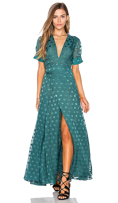 Tularosa Jace Wrap Dress in Teal