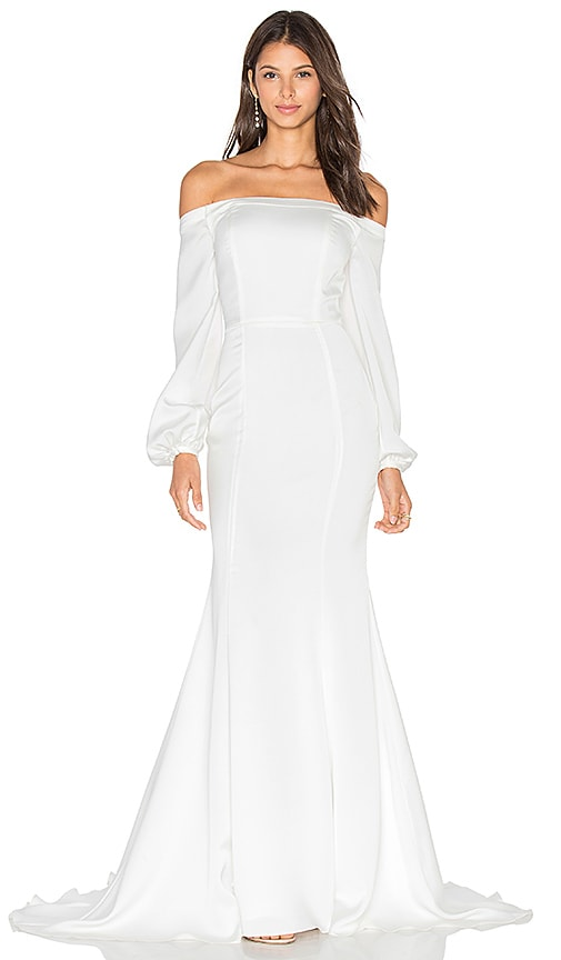 Tularosa x REVOLVE Wyoming Gown in White