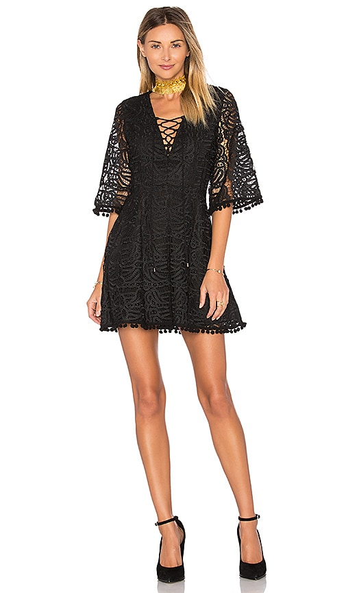 Tularosa Coal Lace Dress in Black