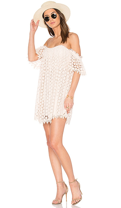Tularosa Pink Bardot Dress Lace