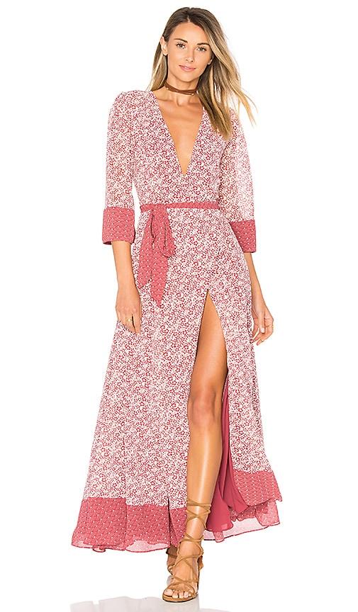 d14d4c7b792ae Tularosa Jolene Dress in Dusted Berry