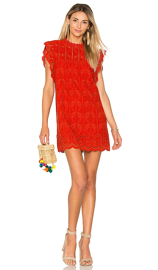 Tularosa Clayton Dress in Red