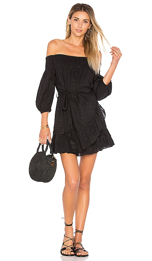 Tularosa Maida Ruffle Dress in Black