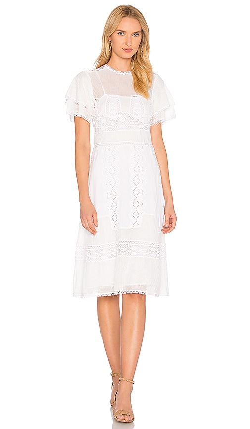 Tularosa Neil Dress in White