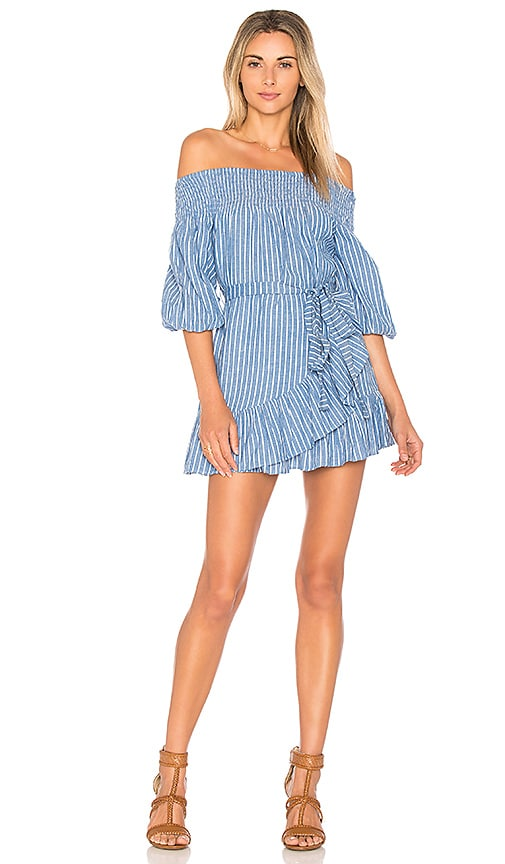 Tularosa Maida Ruffle Dress in Blue