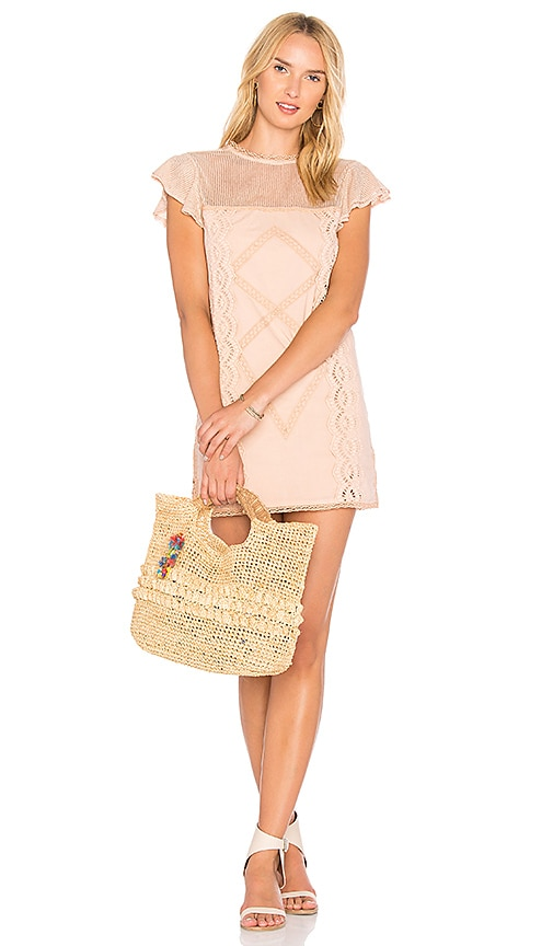 Tularosa Clayton Dress in Peach