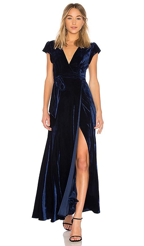 Tularosa Sid Wrap Dress in Blue