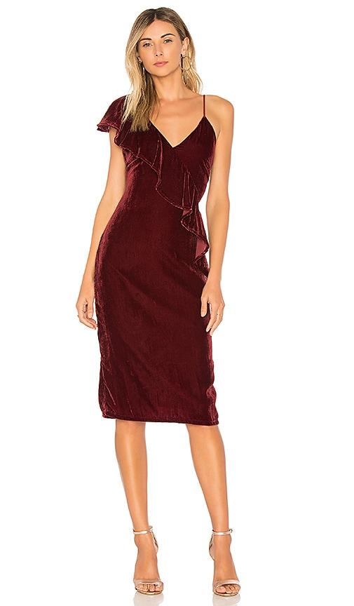 Tularosa Cleo Dress in Burgundy