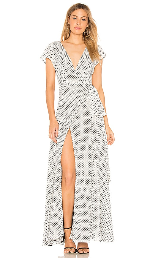 Tularosa Sid Wrap Dress in Black & White