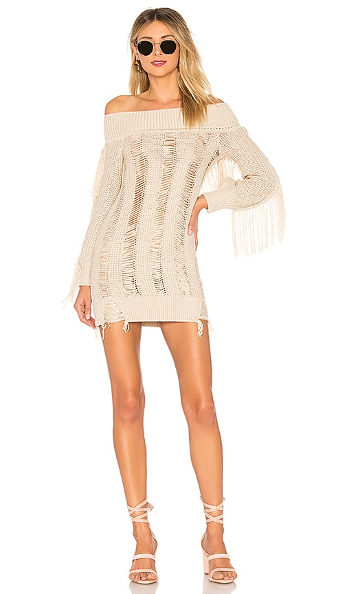 Tularosa Selena Sweater Dress in Cream