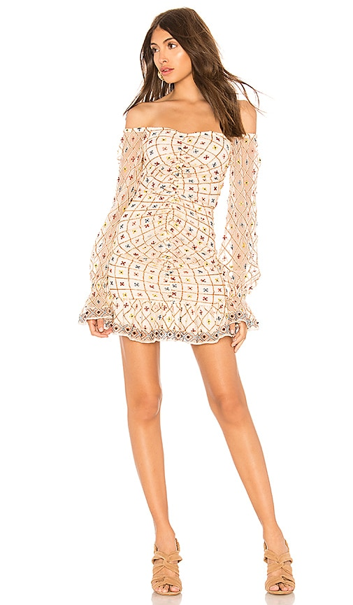 Tularosa Kassandra Embroidered Dress in Cream