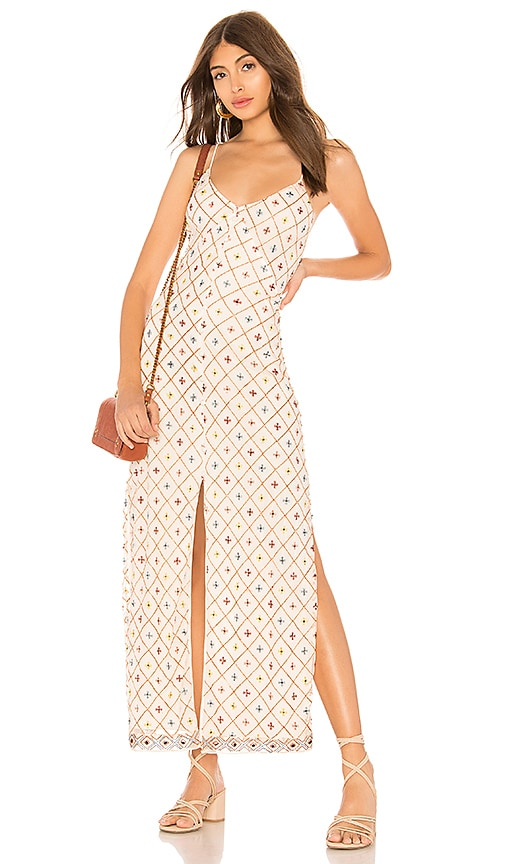 Tularosa Linda Embroidered Dress in Cream