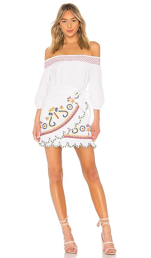 Tularosa Maida Ruffle Dress in White
