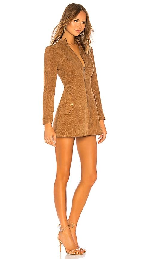 Tularosa NOAH TOFFEE BROWN CORDUROY DRESS