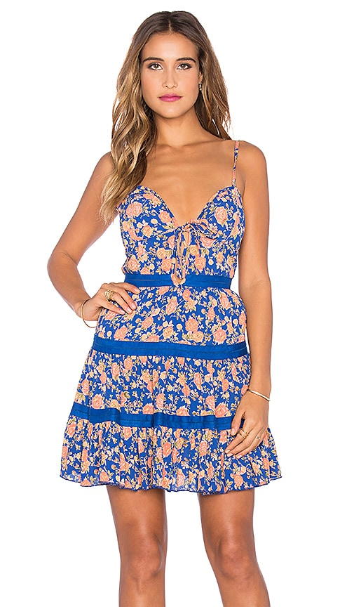 Tularosa Alice Dress in Navy & Peach Floral