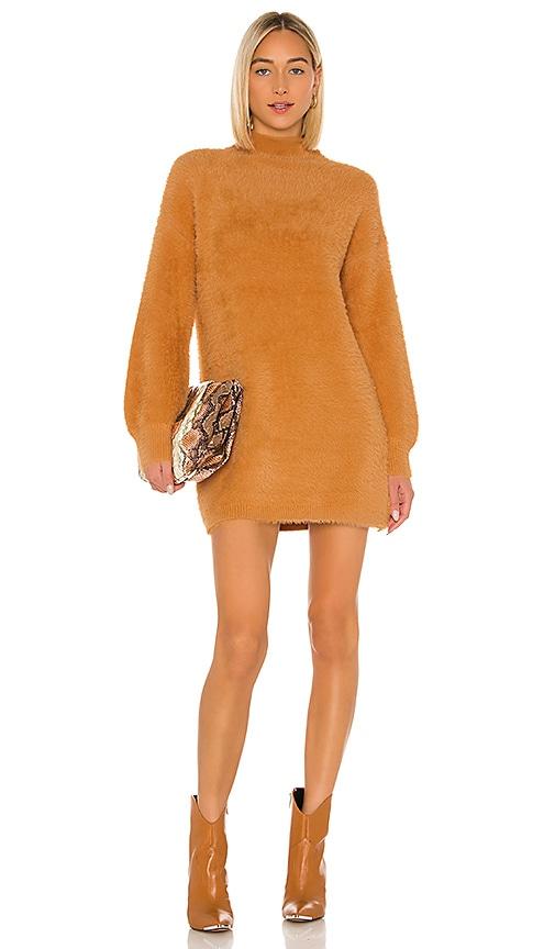 Tularosa Honey Bear Sweater Dress in Honey   REVOLVE