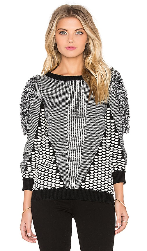 Tularosa Marco Sweater in Black & Cream