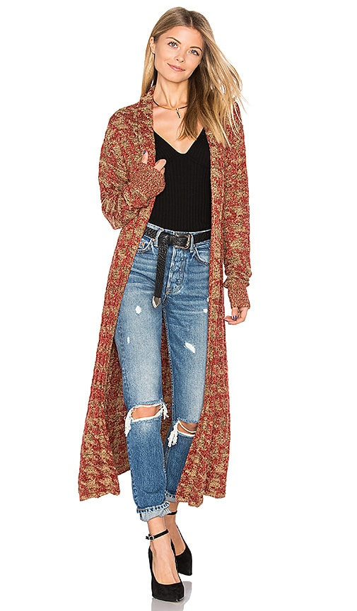 Tularosa x REVOLVE Annie Long Knit Coat in Red