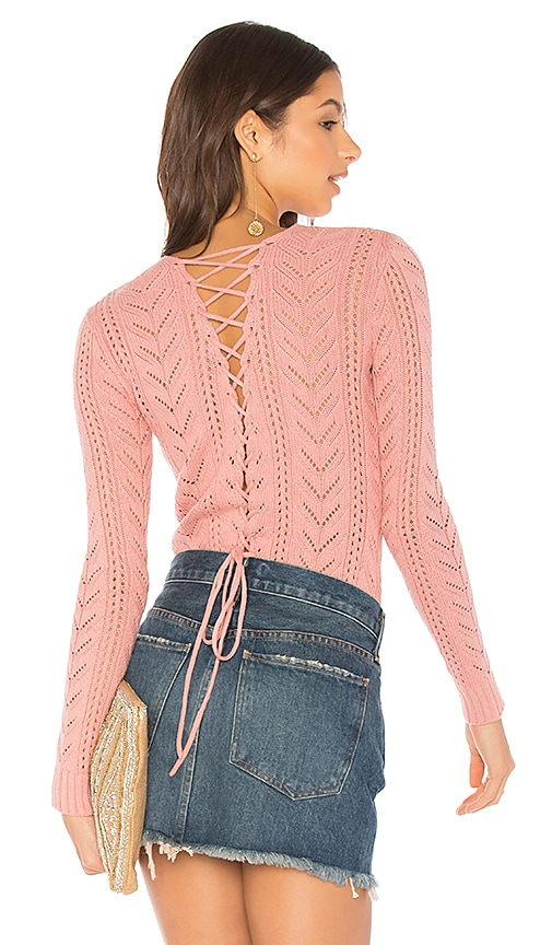 Tularosa x REVOLVE Fulton Sweater in Rose