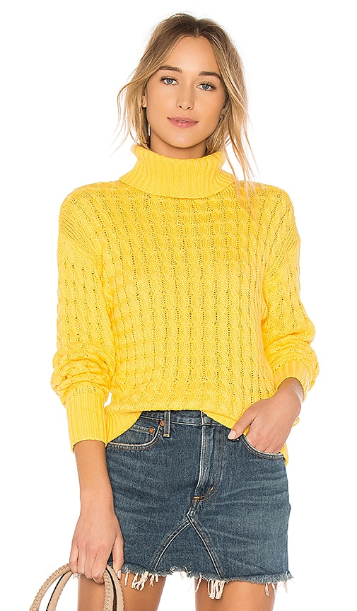 Tularosa Like a Babe Sweater in Yellow