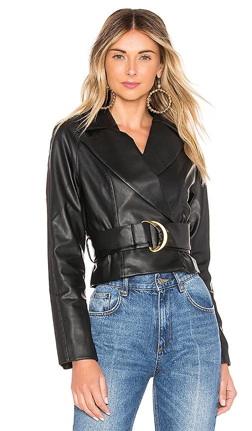 Joan Faux Leather Jacket